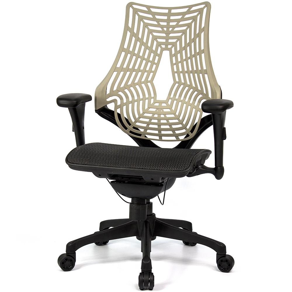 aaronation 愛倫國度 - 蜘蛛椅背人體工學椅-座黑網尼龍腳
