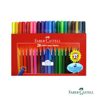 Faber-Castell 紅色系 握得住抗壓三角筆桿彩色筆 20 色