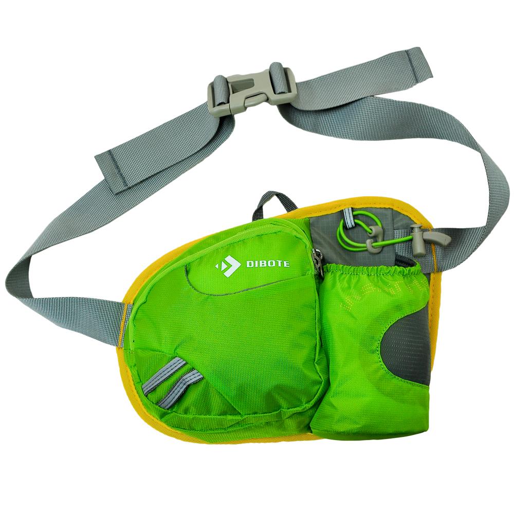 迪伯特 DIBOTE 多功能戶外透氣輕便型隨身款 休閒腰包/背包(綠) -快速到貨