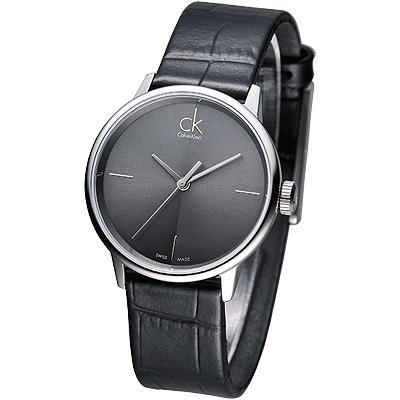 cK Accent 都會菁英時尚品味風女錶-黑/32mm