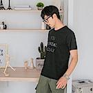 情侶系列~高含棉字母印圖短袖上衣-OB大尺碼