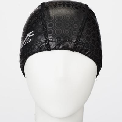 聖手牌 泳帽 黑色合成泳帽