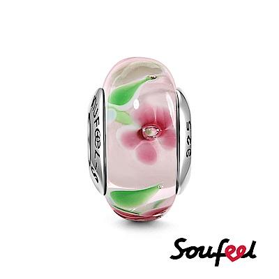 SOUFEEL索菲爾 925純銀珠飾 薔薇 琉璃珠