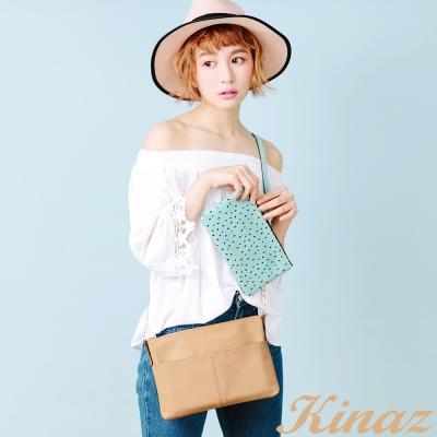 KINAZ 繽紛果漾斜背包-奇異果卡其-熱帶水果系列