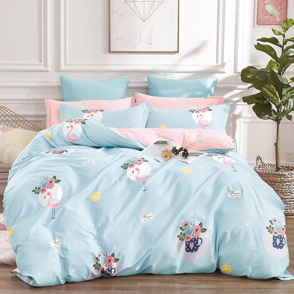 Ania Casa 安娜蘇 單人兩件式 100%精梳棉 台灣製 床包枕套純棉兩件組