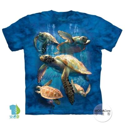 摩達客 預購 美國進口The Mountain 海龜家族 短袖T恤