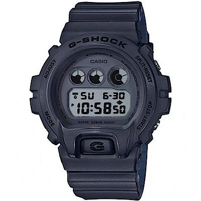 G-SHOCK潮流霧面雙色帶風格設計休閒錶(DW-6900LU-8)深灰X靛藍51.2mm