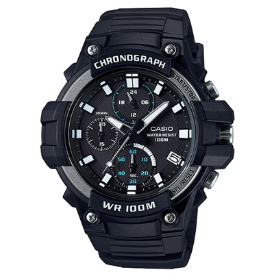 CASIO 多功能計時運動腕錶-MCW-110H-1AVDF-45mm