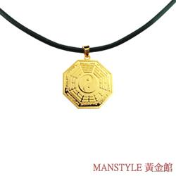 Manstyle 平安八卦黃金墜(約2錢)