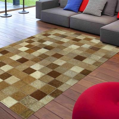 范登伯格 - 印度純手工拼接地毯 - 棕格 (160 x 230cm)