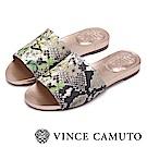 Vince Camuto 叢林度假一字平底涼鞋-蛇紋