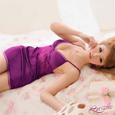 【Lorraine】享愛天堂!性感蕾絲柔緞睡襯衣