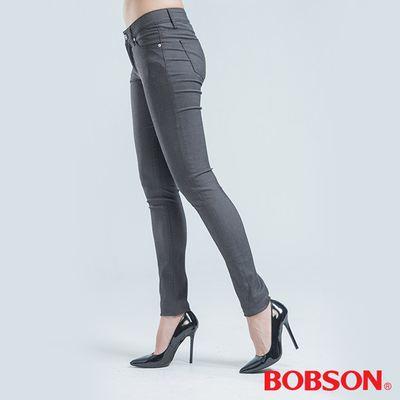 BOBSON 緊身彈性色褲-灰色