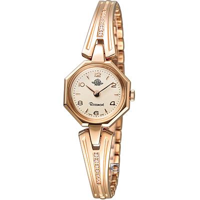 Rosemont 玫瑰錶骨董風玫瑰系列VII 時尚腕錶-玫瑰金/21x21mm
