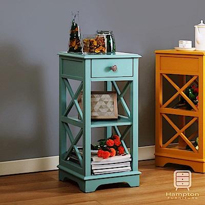 漢妮Hampton安琪拉小花架-藍色 33x33x70cm