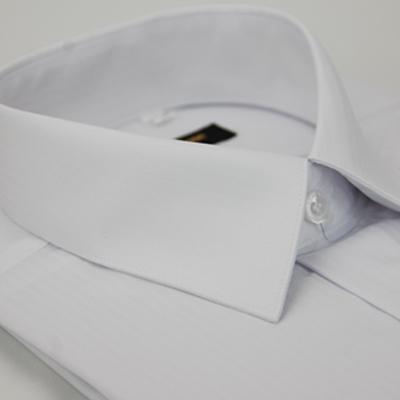 金‧安德森 白色細紋壓光易整燙窄版長袖襯衫