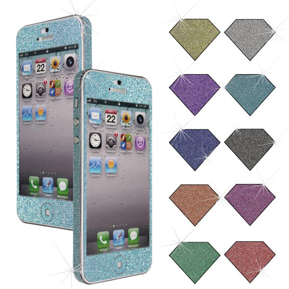 CASE4U iPhone5/5S 閃亮粉鑽螢幕機身保護貼(含機身邊條)