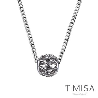 TiMISA 交織 純鈦串飾項鍊(M02D)