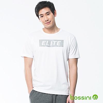 bossini男裝-速乾短袖圓領上衣07白