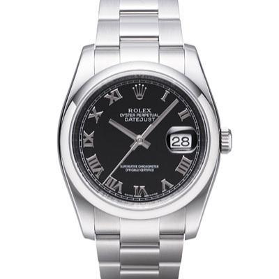 ROLEX 勞力士 Datejust 116200 蠔式日誌型機械錶-黑/羅馬字/36mm