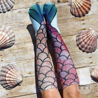 摩達客 美國進口 Living Royal 美人魚 高筒襪及膝襪