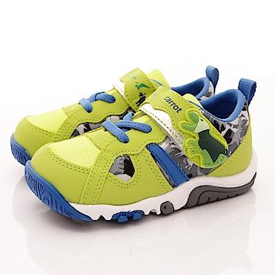 日本Carrot機能童鞋-輕量速乾款-22017綠(小童段)