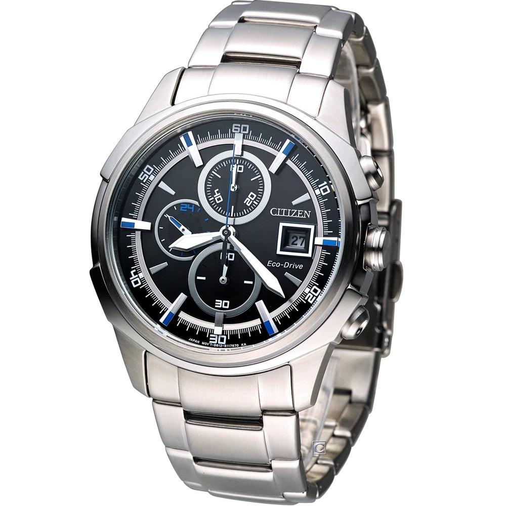 CITIZEN Eco Drive 傳奇武士腕錶(CA0370-54E)-黑/42mm