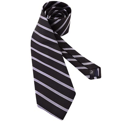 MICHAEL KORS 黑色條紋造型領帶