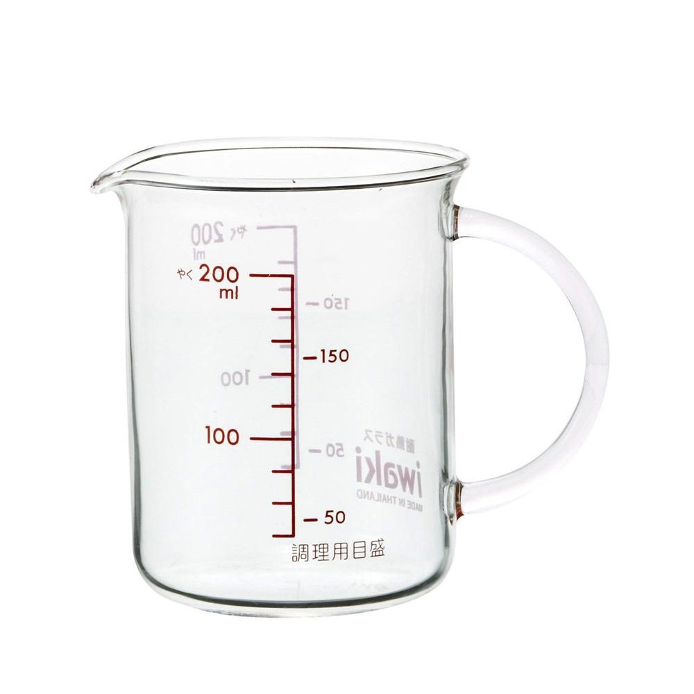 【iwaki】玻璃微波把手量杯200ml