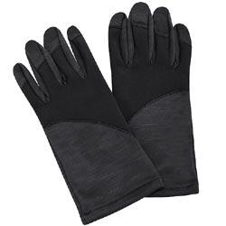 Calvin Klein 黑色LOGO字樣保暖女款手套-L/XL