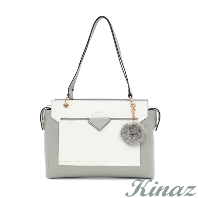 KINAZ-灰色濃睫托特包-哈士奇系列-快