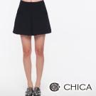 CHICA 中間打褶口袋短裙