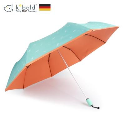 德國kobold酷波德 抗UV夏威夷風情-超輕巧 遮陽防曬三折傘-橘色A