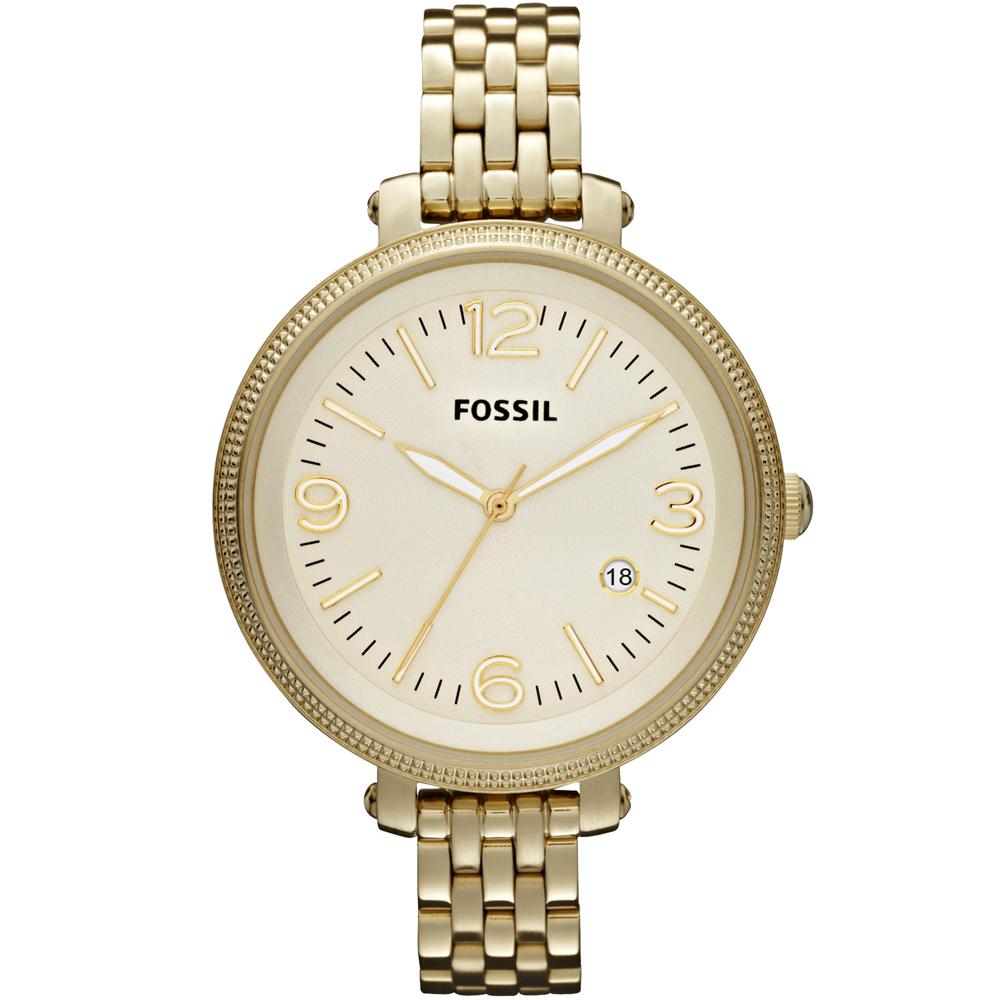 FOSSIL  Heather 法式浪漫大錶徑girl 腕錶-金/42mm