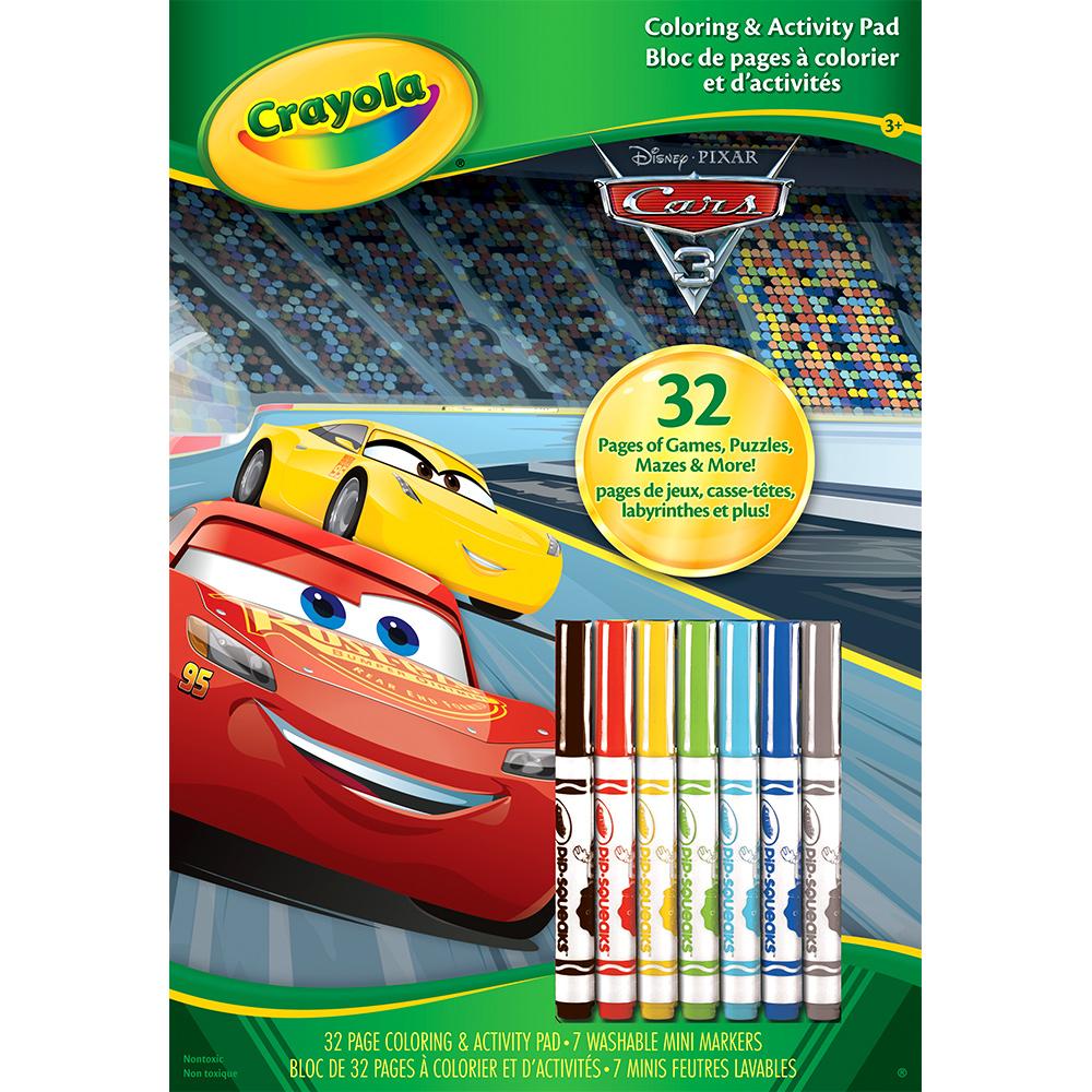 美國crayola 繪兒樂 汽車總動員著色套裝(3Y+)