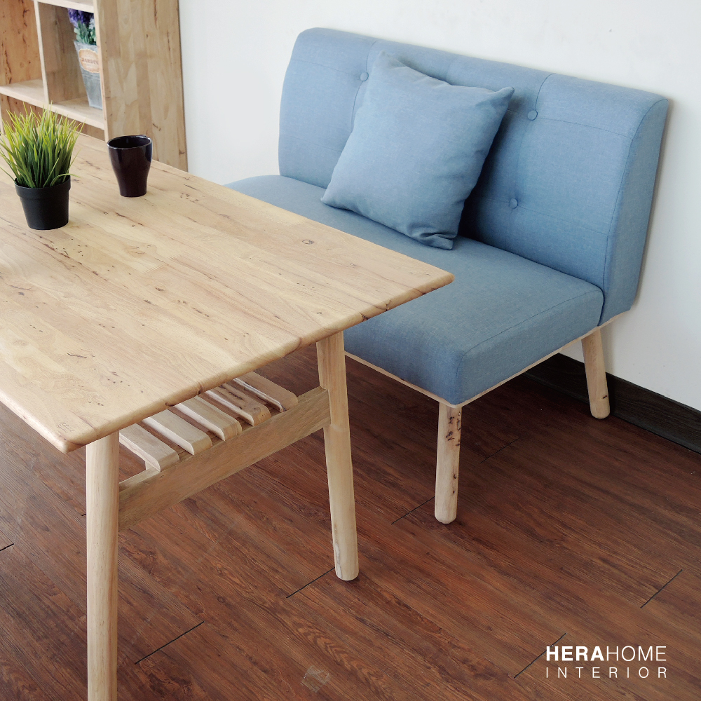 HERA Home Korah棉麻實木2人餐椅