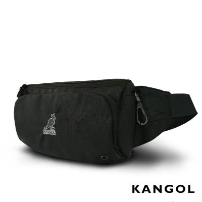 KANGOL 韓國經典隨身運動腰包/斜背包/收納包(灰綠) KG51160