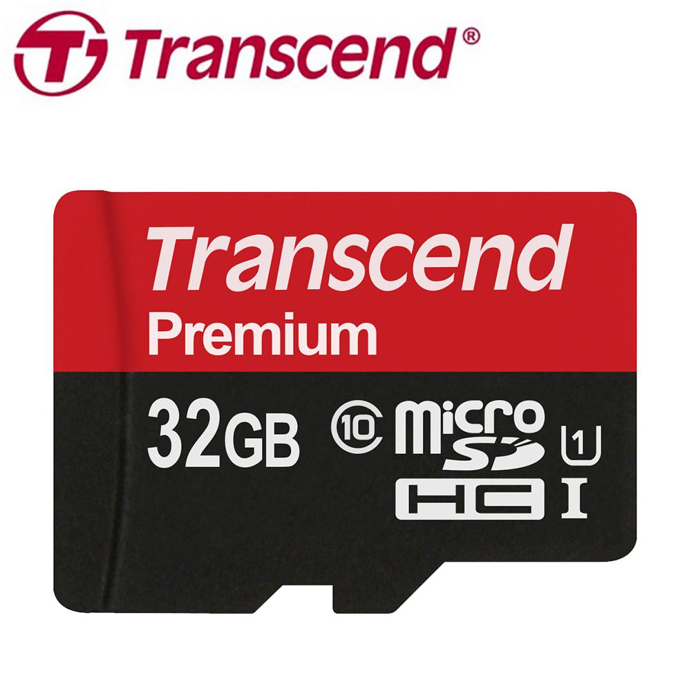 創見 32GB microSDHC UHS-I 記憶卡(附轉接卡)