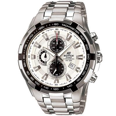 CASIO 科技新貴F1指針賽車錶(EF-539D-7A)-白/48.5mm