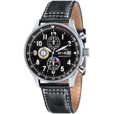 AVI-8 飛行錶 HAWKER HURRICANE 潮流手錶-黑/42mm