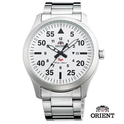 ORIENT 東方錶 SP 系列 飛行運動石英錶-白色/44mm