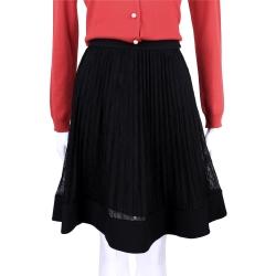 PHILOSOPHY 黑色蕾絲百摺設計及膝裙