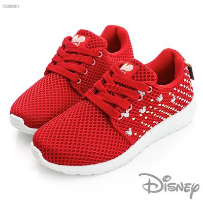 DISNEY-活力放射-繽紛網點休閒鞋-紅-女