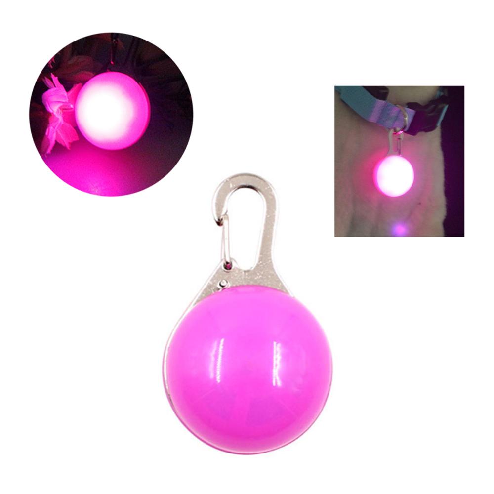 摩達客 LED寵物發光吊墜 (粉紅色粉光)夜間遛狗貓防走失閃光燈掛墜(三段發光模式)