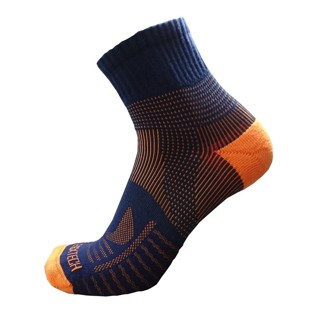 EGXtech 中統多功8字運動襪(P82丈青橘)2雙入