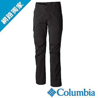 Columbia哥倫比亞 男款-防曬50防潑長褲-黑色(UAE15690BKI)