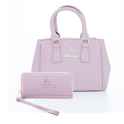 B.S.D.S冰山袋鼠-東京樂活x凱特兩用包 長夾2件組-芋紫色