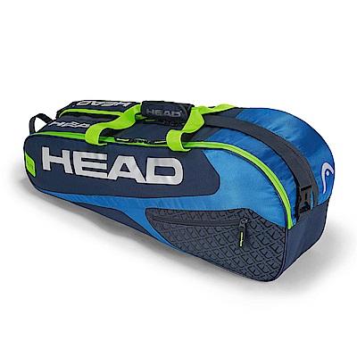 HEAD Elite Combi 6支裝球拍袋-藍綠 283448
