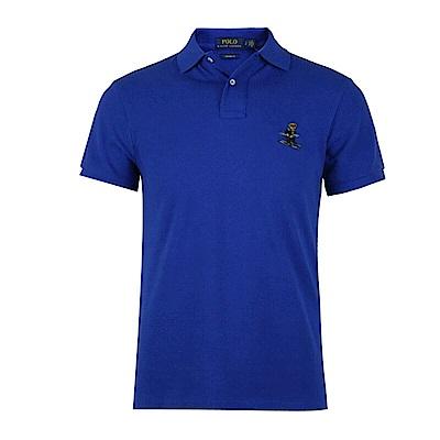 Polo Ralph Lauren 年度熱銷限定泰迪熊刺繡短袖Polo衫-藍色