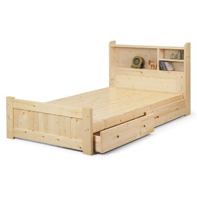 床架 單人3.5尺 普莉瑪床板抽屜收納床 原木色 AS